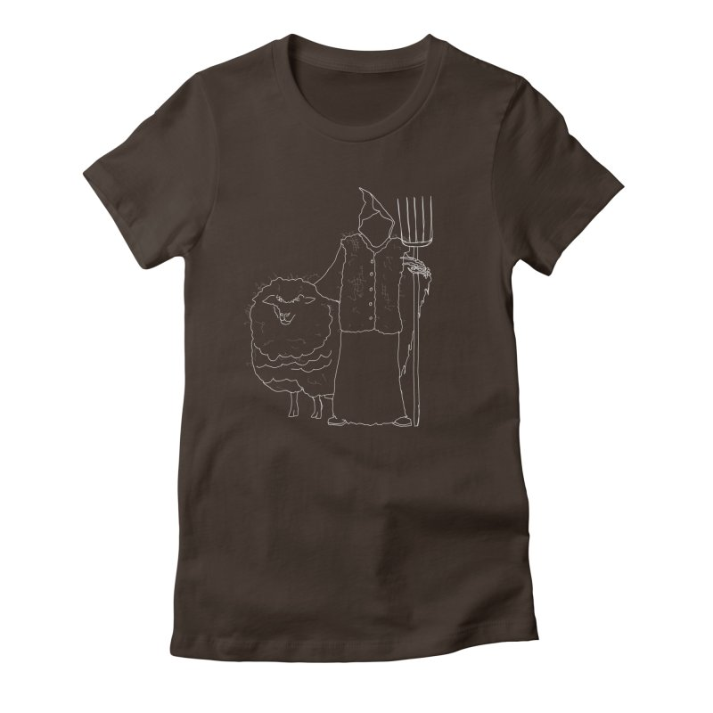 Grim the Farmer and Fiber Artist Women's Fitted T-Shirt by jackrabbithollow's Artist Shop
