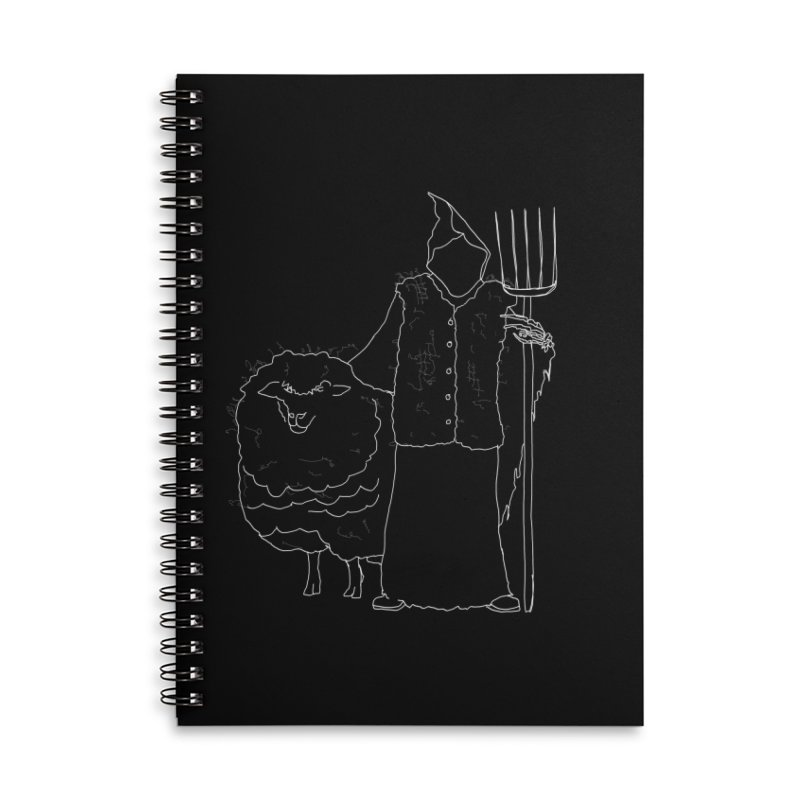 Grim the Farmer and Fiber Artist Accessories Lined Spiral Notebook by jackrabbithollow's Artist Shop
