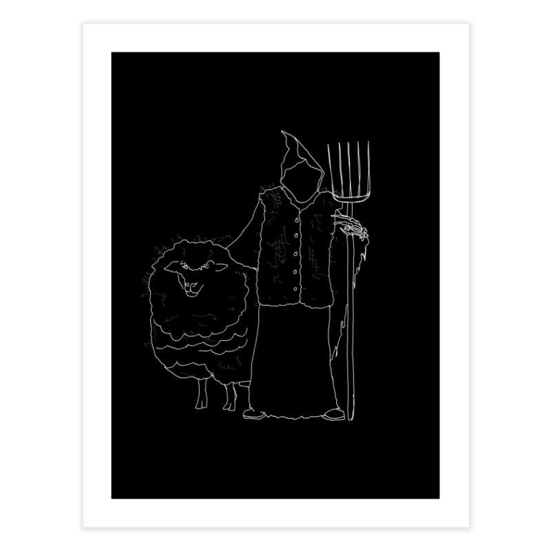 Grim the Farmer and Fiber Artist Home Fine Art Print by jackrabbithollow's Artist Shop