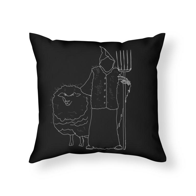 Grim the Farmer and Fiber Artist Home Throw Pillow by jackrabbithollow's Artist Shop