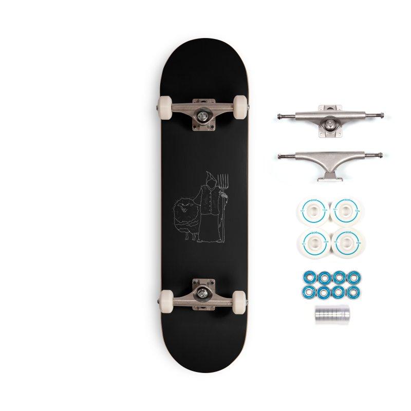 Grim the Farmer and Fiber Artist Accessories Complete - Basic Skateboard by jackrabbithollow's Artist Shop