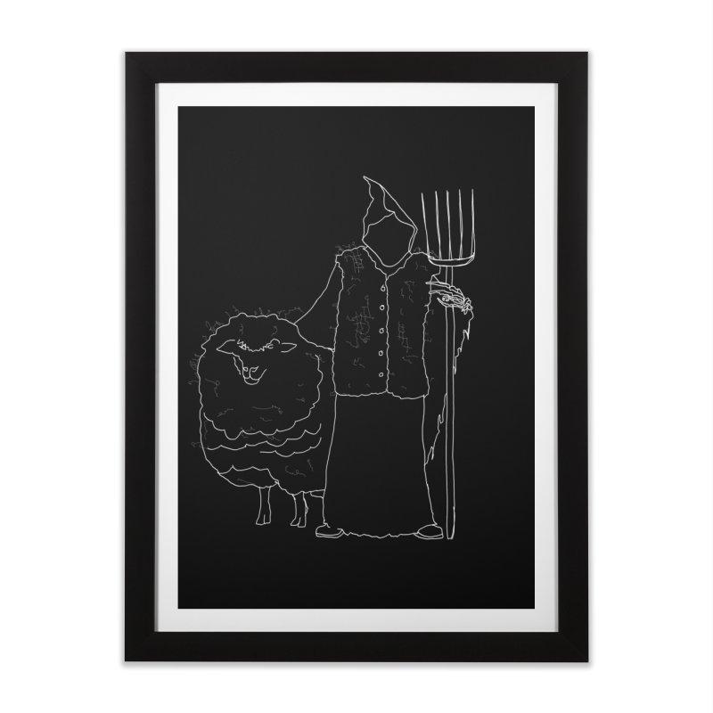Grim the Farmer and Fiber Artist Home Framed Fine Art Print by jackrabbithollow's Artist Shop