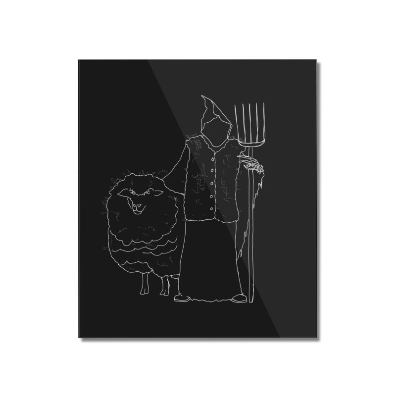 Grim the Farmer and Fiber Artist Home Mounted Acrylic Print by jackrabbithollow's Artist Shop
