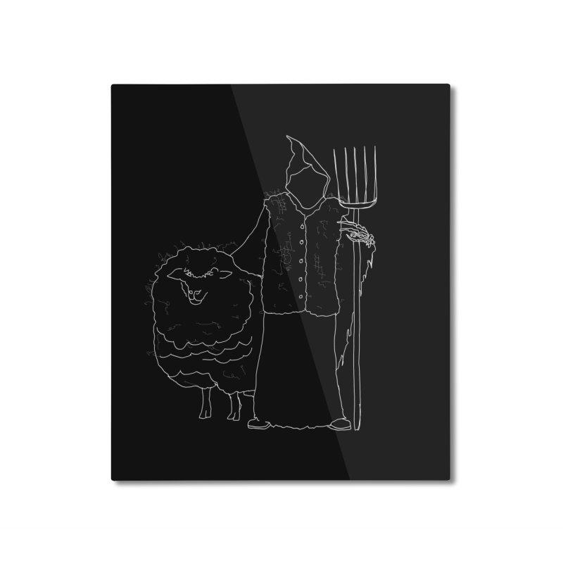 Grim the Farmer and Fiber Artist Home Mounted Aluminum Print by jackrabbithollow's Artist Shop