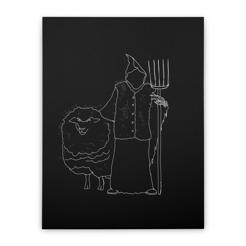 Grim the Farmer and Fiber Artist Home Stretched Canvas by jackrabbithollow's Artist Shop