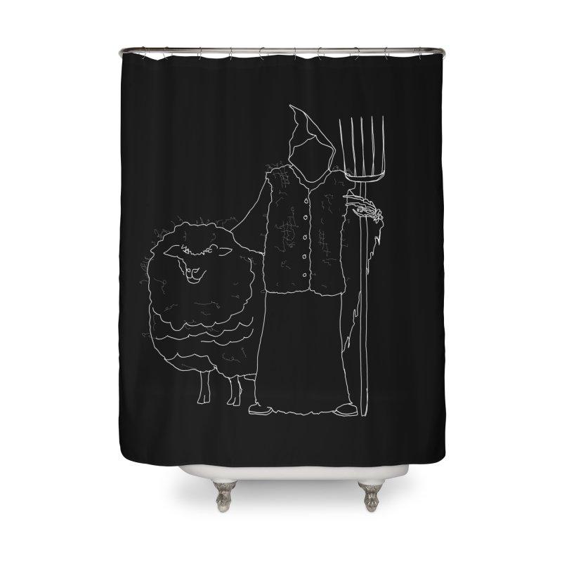 Grim the Farmer and Fiber Artist Home Shower Curtain by jackrabbithollow's Artist Shop