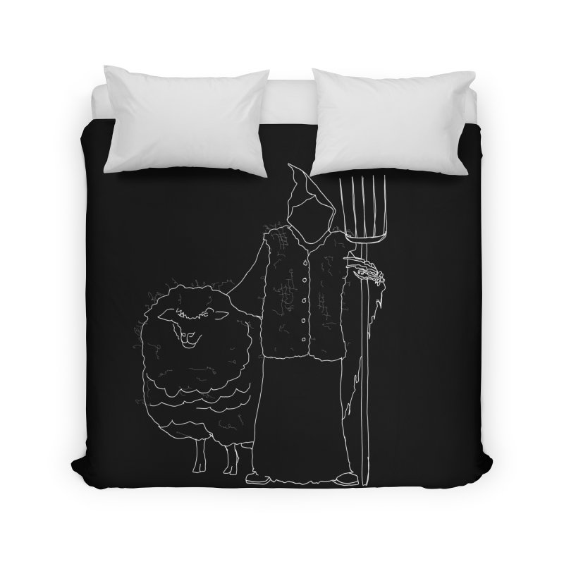 Grim the Farmer and Fiber Artist Home Duvet by jackrabbithollow's Artist Shop
