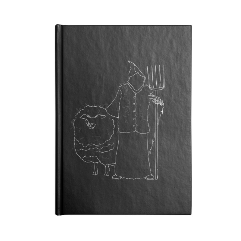 Grim the Farmer and Fiber Artist Accessories Notebook by jackrabbithollow's Artist Shop