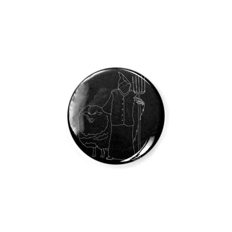 Grim the Farmer and Fiber Artist Accessories Button by jackrabbithollow's Artist Shop