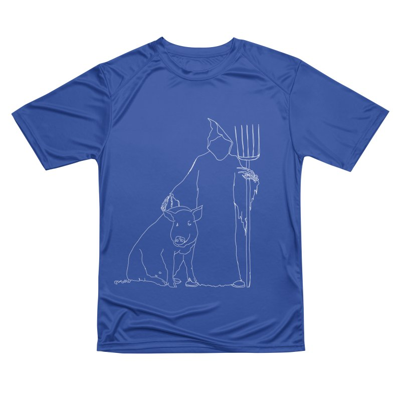 Grim the Farmer and Pig Parent Men's Performance T-Shirt by jackrabbithollow's Artist Shop