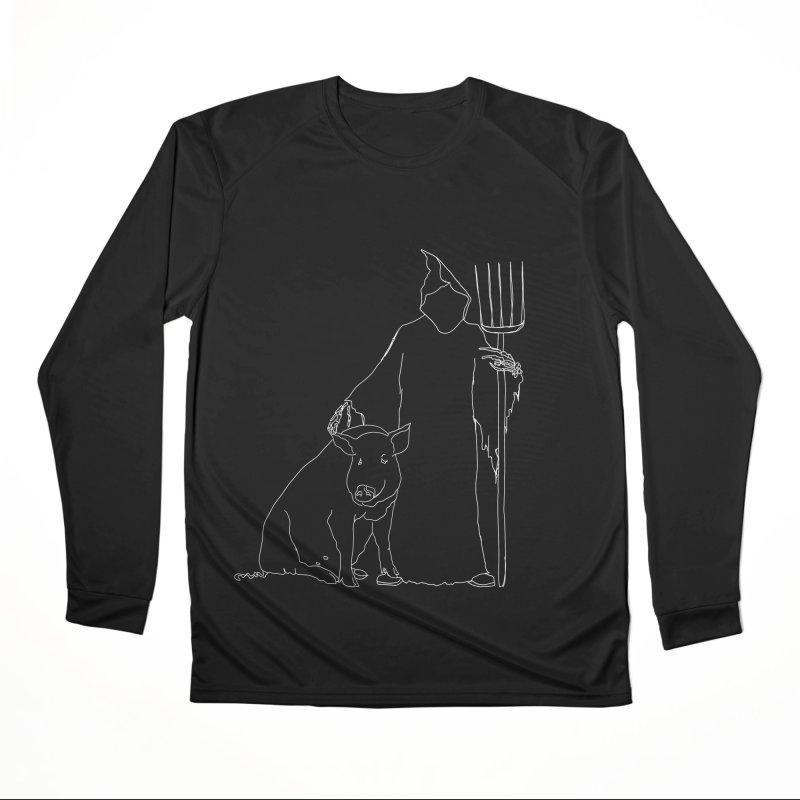 Grim the Farmer and Pig Parent Women's Longsleeve T-Shirt by jackrabbithollow's Artist Shop