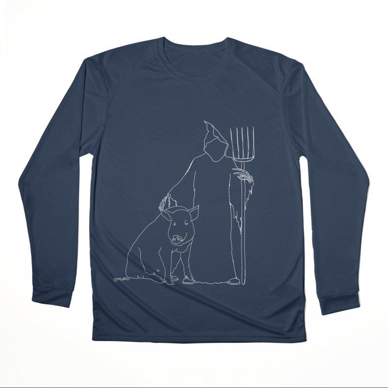 Grim the Farmer and Pig Parent Men's Performance Longsleeve T-Shirt by jackrabbithollow's Artist Shop