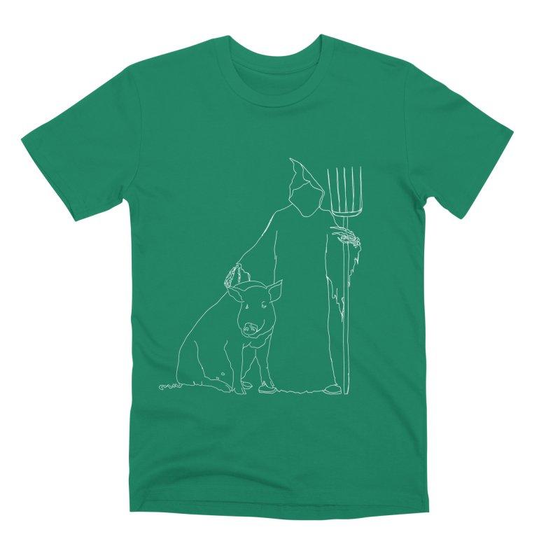 Grim the Farmer and Pig Parent Men's Premium T-Shirt by jackrabbithollow's Artist Shop