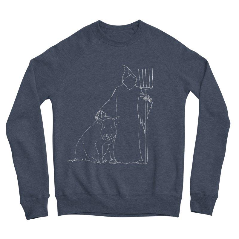 Grim the Farmer and Pig Parent Women's Sponge Fleece Sweatshirt by jackrabbithollow's Artist Shop