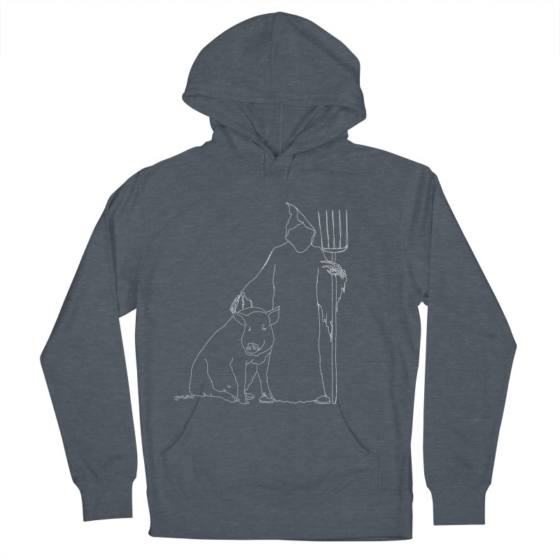 Grim the Farmer and Pig Parent Women's French Terry Pullover Hoody by jackrabbithollow's Artist Shop