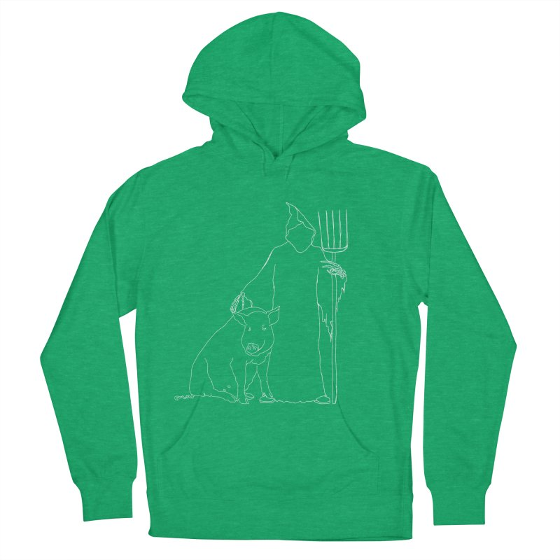 Grim the Farmer and Pig Parent Men's French Terry Pullover Hoody by jackrabbithollow's Artist Shop