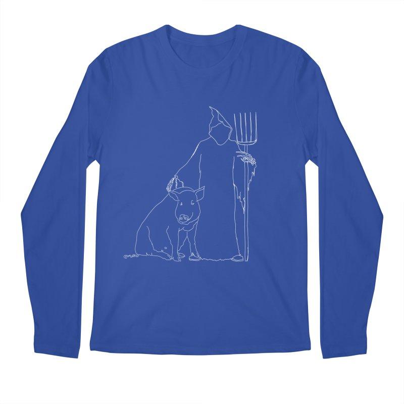 Grim the Farmer and Pig Parent Men's Regular Longsleeve T-Shirt by jackrabbithollow's Artist Shop