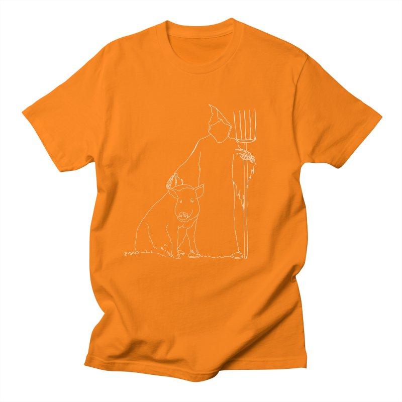 Grim the Farmer and Pig Parent Women's Regular Unisex T-Shirt by jackrabbithollow's Artist Shop