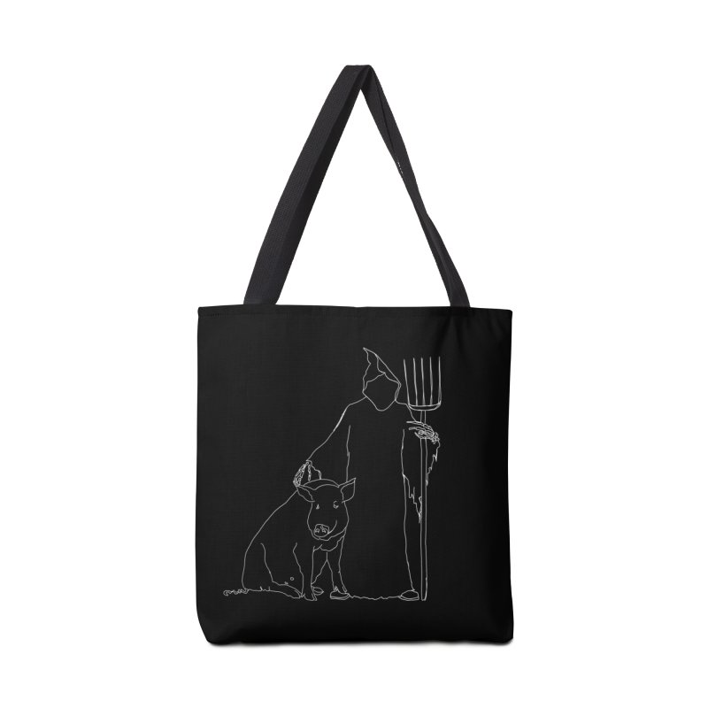Grim the Farmer and Pig Parent Accessories Tote Bag Bag by jackrabbithollow's Artist Shop