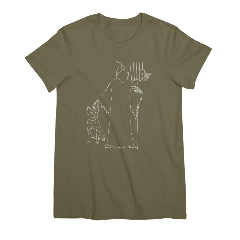 Grim the Farmer and Bestie Women's Premium T-Shirt by jackrabbithollow's Artist Shop