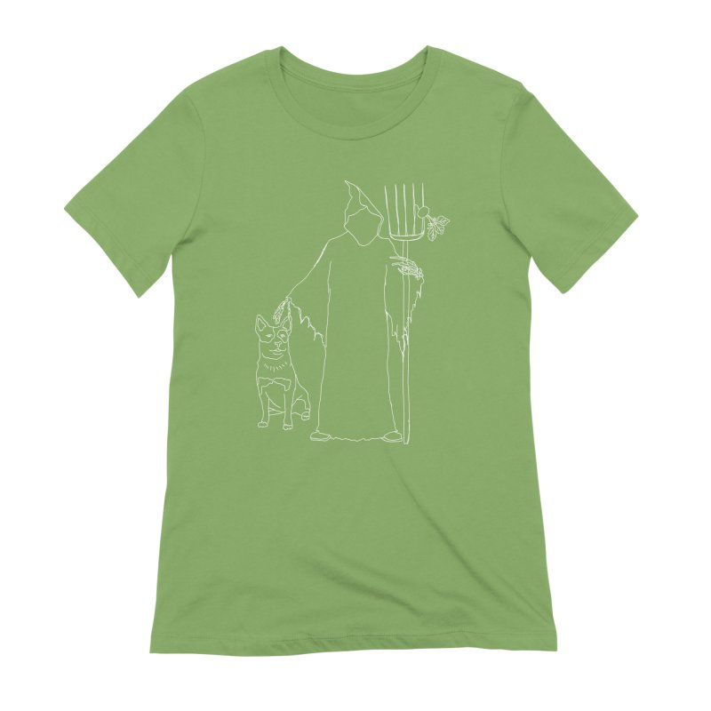Grim the Farmer and Bestie Women's Extra Soft T-Shirt by jackrabbithollow's Artist Shop