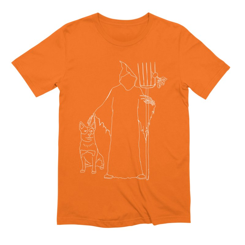 Grim the Farmer and Bestie Men's Extra Soft T-Shirt by jackrabbithollow's Artist Shop