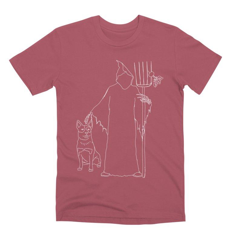 Grim the Farmer and Bestie Men's Premium T-Shirt by jackrabbithollow's Artist Shop