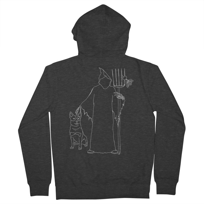 Grim the Farmer and Bestie Women's French Terry Zip-Up Hoody by jackrabbithollow's Artist Shop