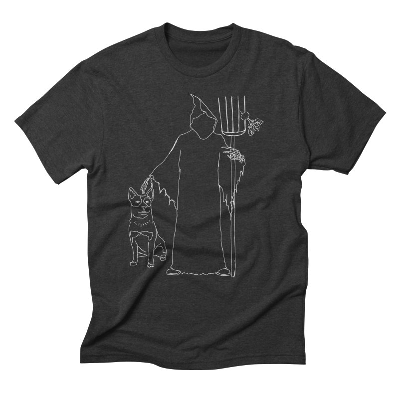 Grim the Farmer and Bestie Men's Triblend T-Shirt by jackrabbithollow's Artist Shop