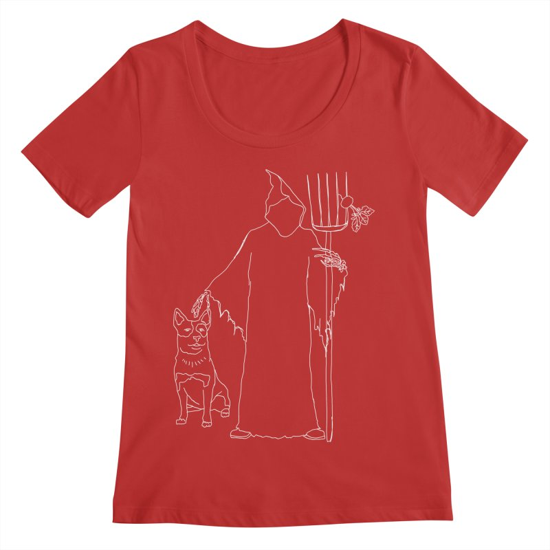 Grim the Farmer and Bestie Women's Regular Scoop Neck by jackrabbithollow's Artist Shop