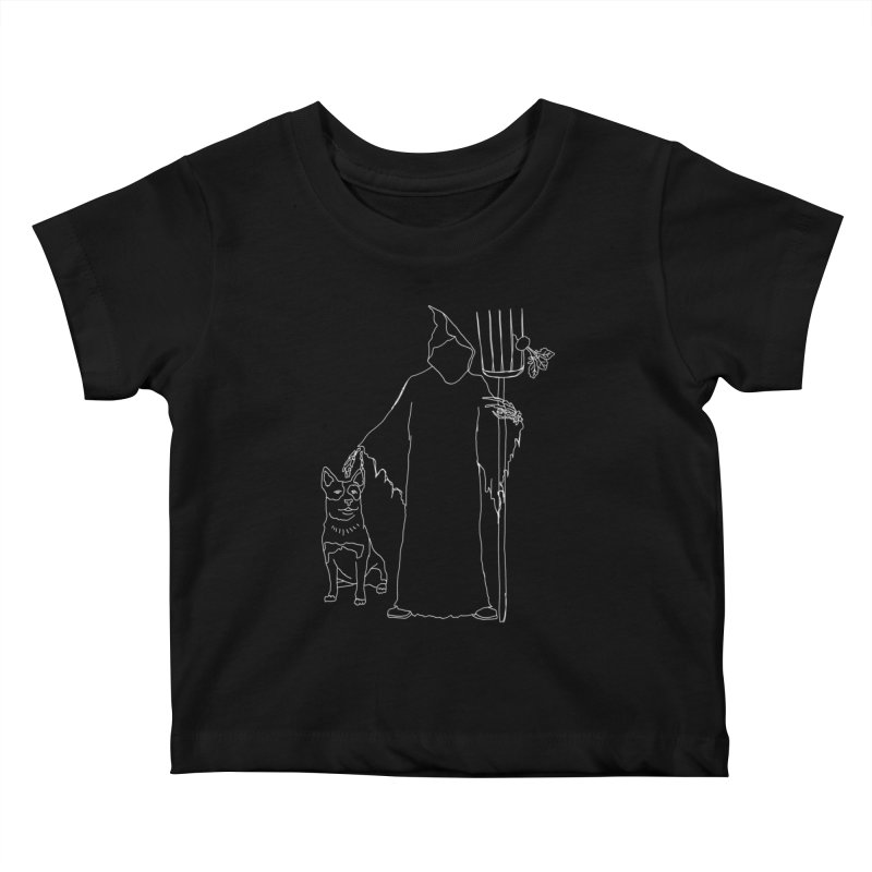 Grim the Farmer and Bestie Kids Baby T-Shirt by jackrabbithollow's Artist Shop