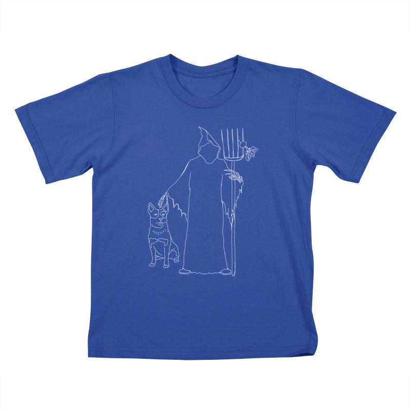 Grim the Farmer and Bestie Kids T-Shirt by jackrabbithollow's Artist Shop