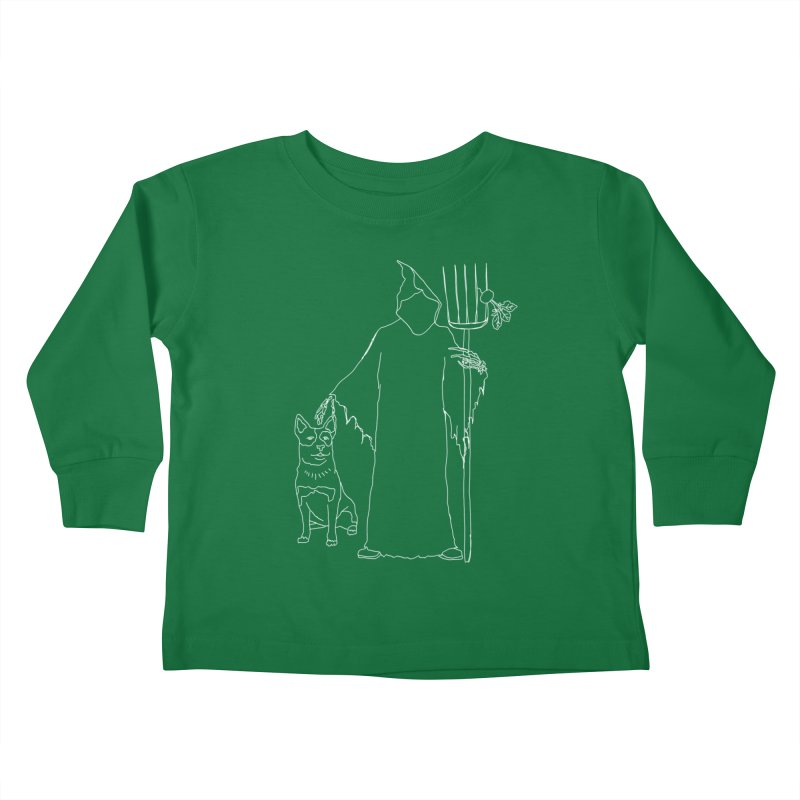 Grim the Farmer and Bestie Kids Toddler Longsleeve T-Shirt by jackrabbithollow's Artist Shop