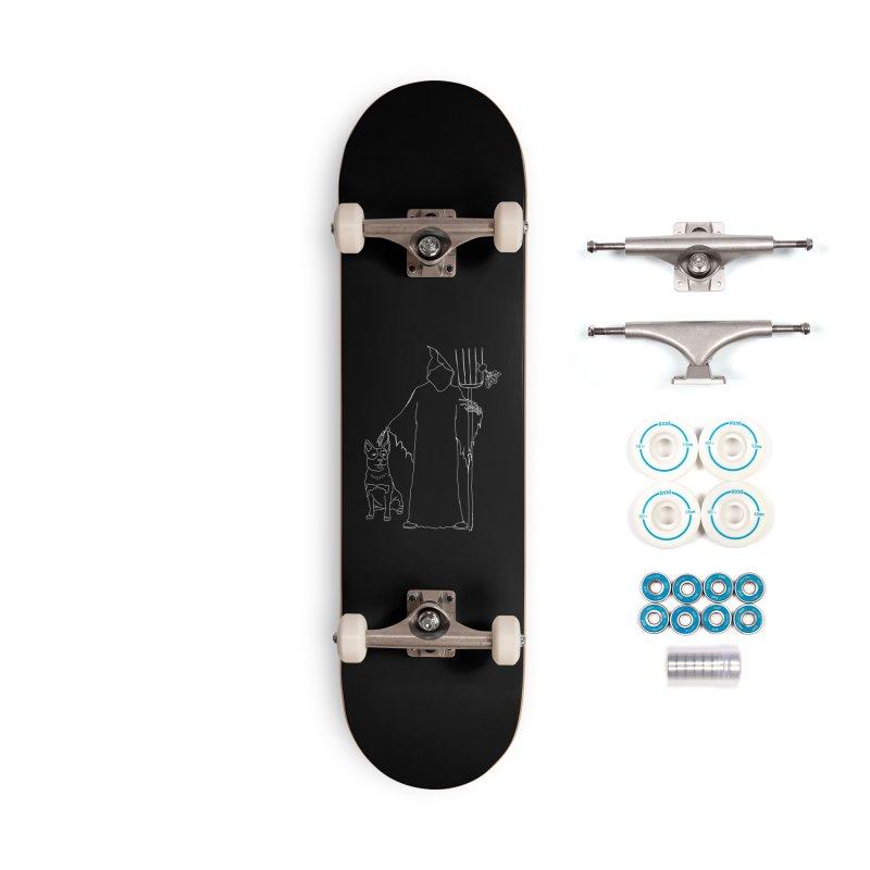 Grim the Farmer and Bestie Accessories Skateboard by jackrabbithollow's Artist Shop