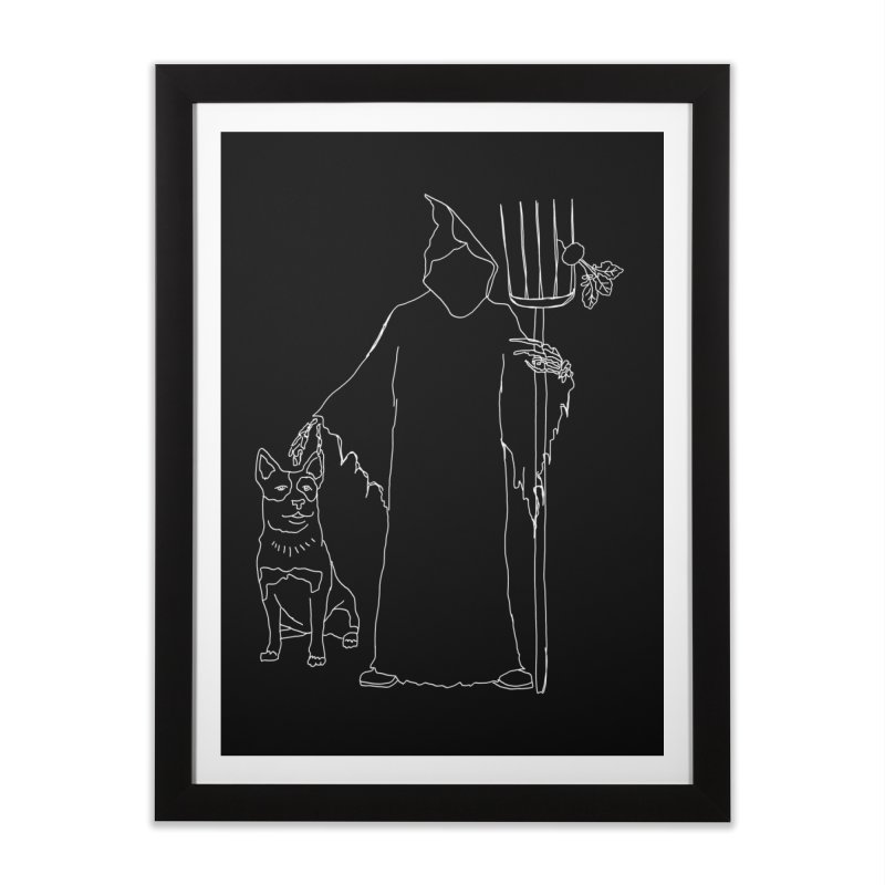 Grim the Farmer and Bestie Home Framed Fine Art Print by jackrabbithollow's Artist Shop