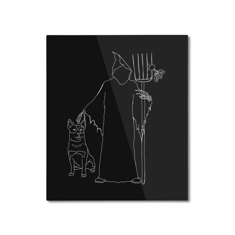 Grim the Farmer and Bestie Home Mounted Aluminum Print by jackrabbithollow's Artist Shop