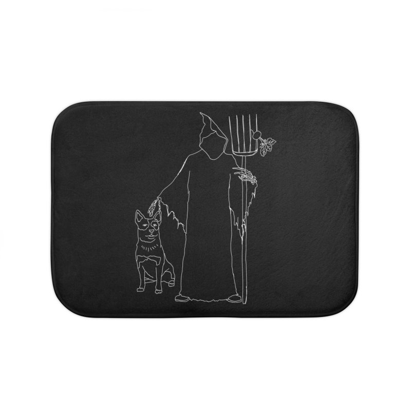 Grim the Farmer and Bestie Home Bath Mat by jackrabbithollow's Artist Shop