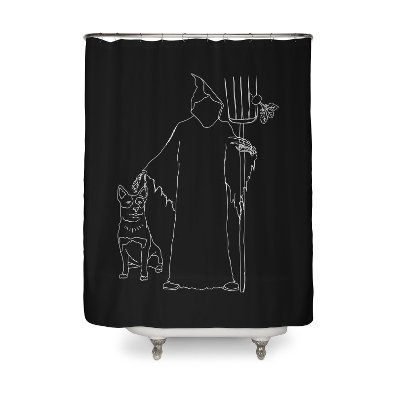 Grim the Farmer and Bestie Home Shower Curtain by jackrabbithollow's Artist Shop