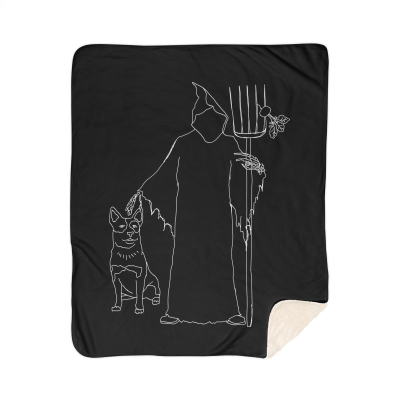 Grim the Farmer and Bestie Home Blanket by jackrabbithollow's Artist Shop