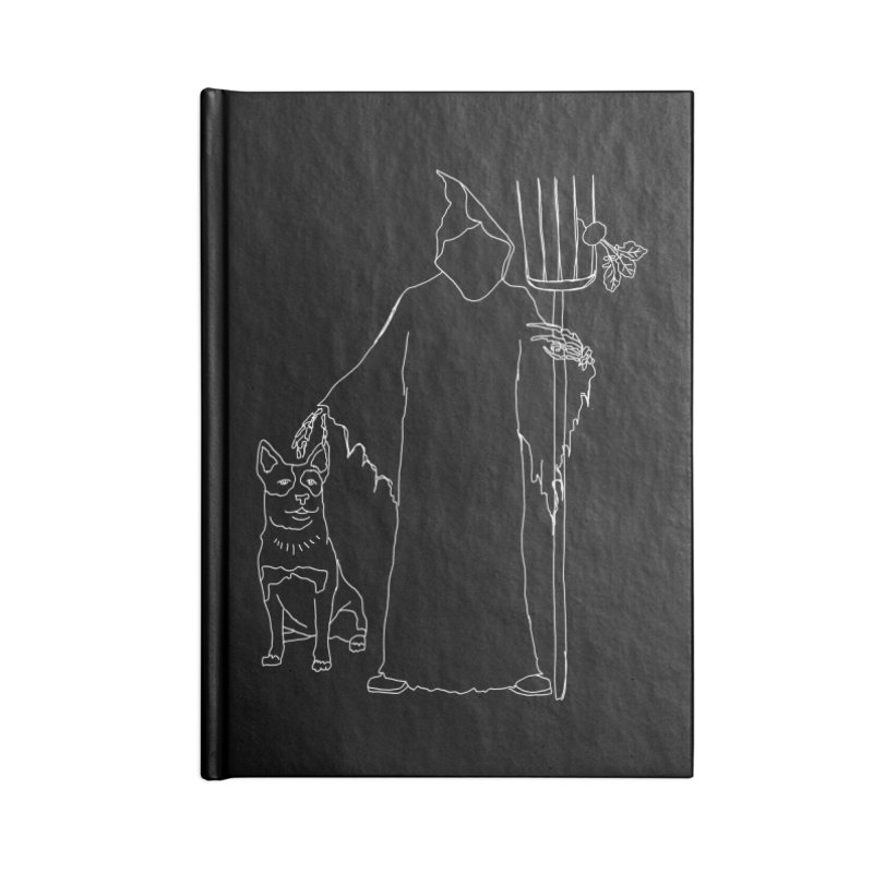 Grim the Farmer and Bestie Accessories Blank Journal Notebook by jackrabbithollow's Artist Shop