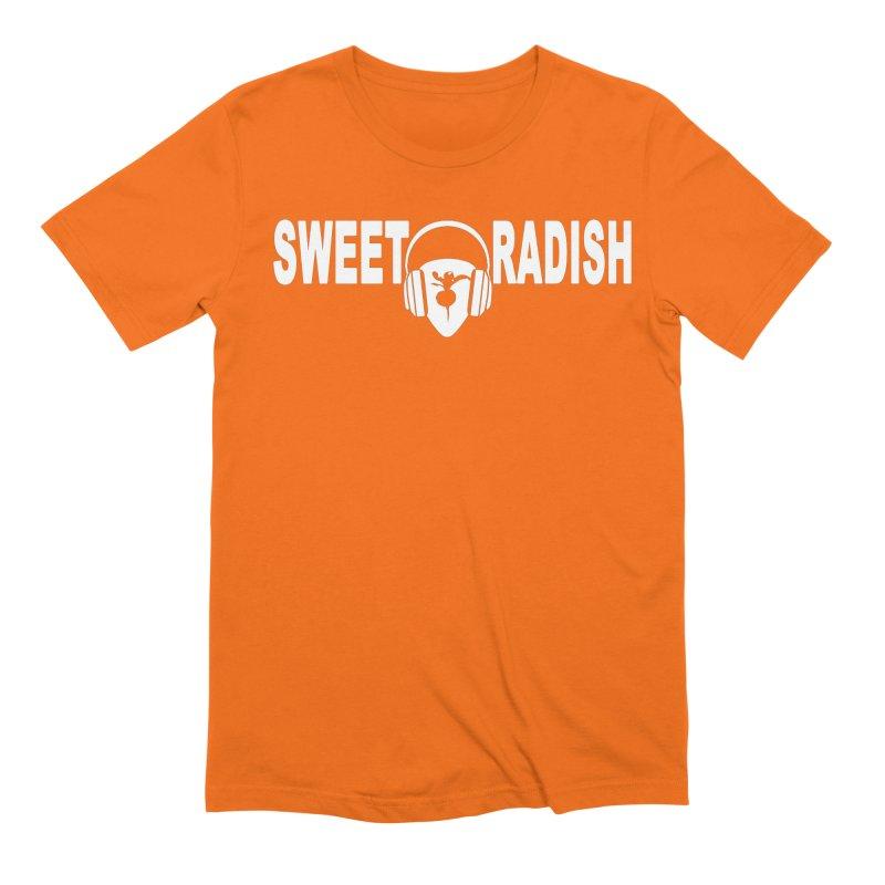 Sweet Radish Headphones Logo Men's Extra Soft T-Shirt by jackrabbithollow's Artist Shop