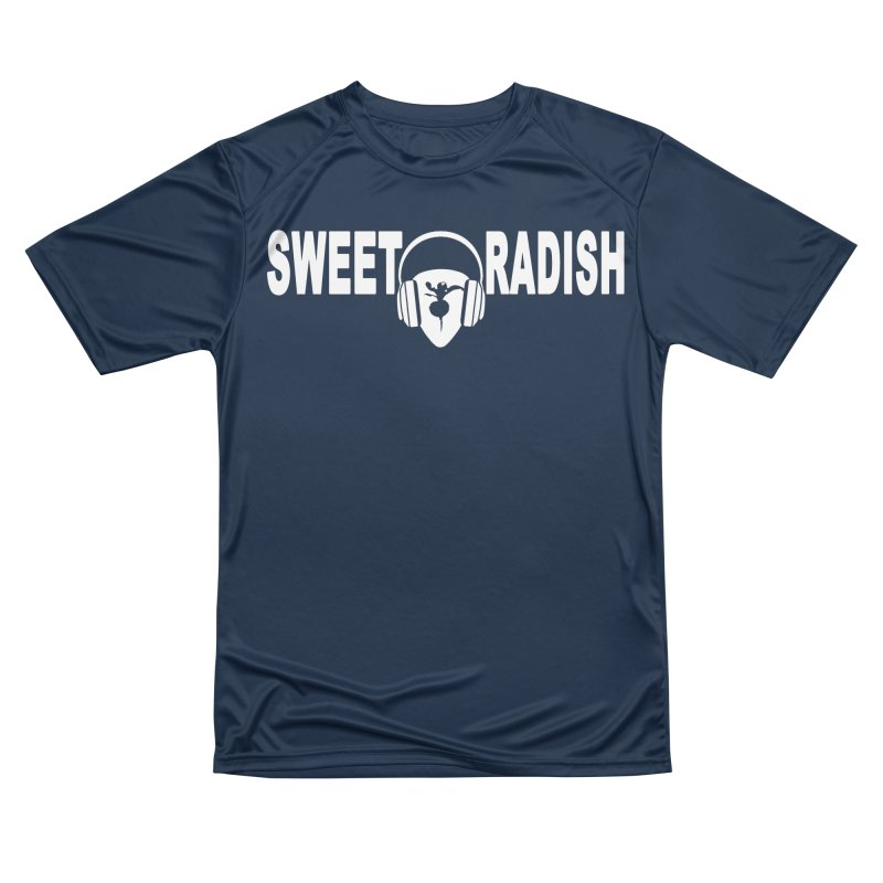 Sweet Radish Headphones Logo Women's Performance Unisex T-Shirt by jackrabbithollow's Artist Shop