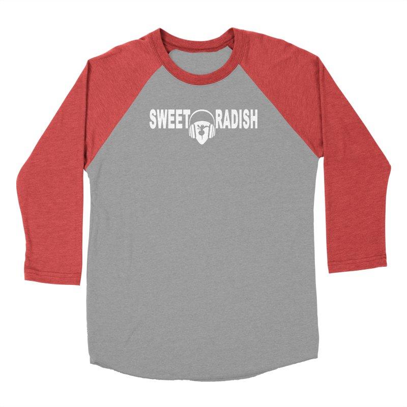 Sweet Radish Headphones Logo Women's Baseball Triblend Longsleeve T-Shirt by jackrabbithollow's Artist Shop
