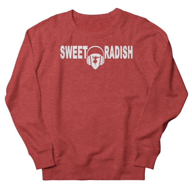 Sweet Radish Headphones Logo Men's French Terry Sweatshirt by jackrabbithollow's Artist Shop