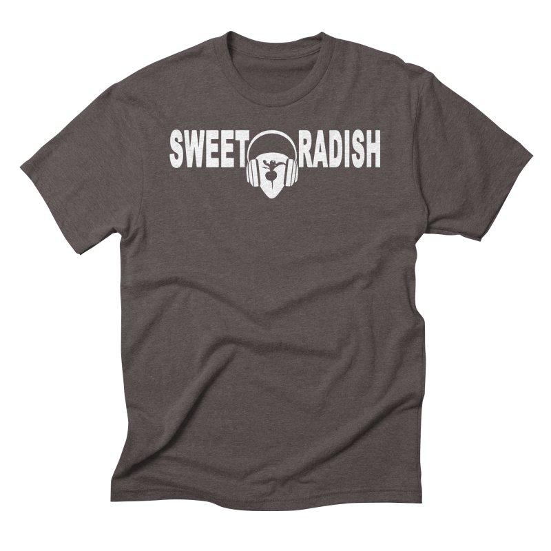 Sweet Radish Headphones Logo Men's Triblend T-Shirt by jackrabbithollow's Artist Shop