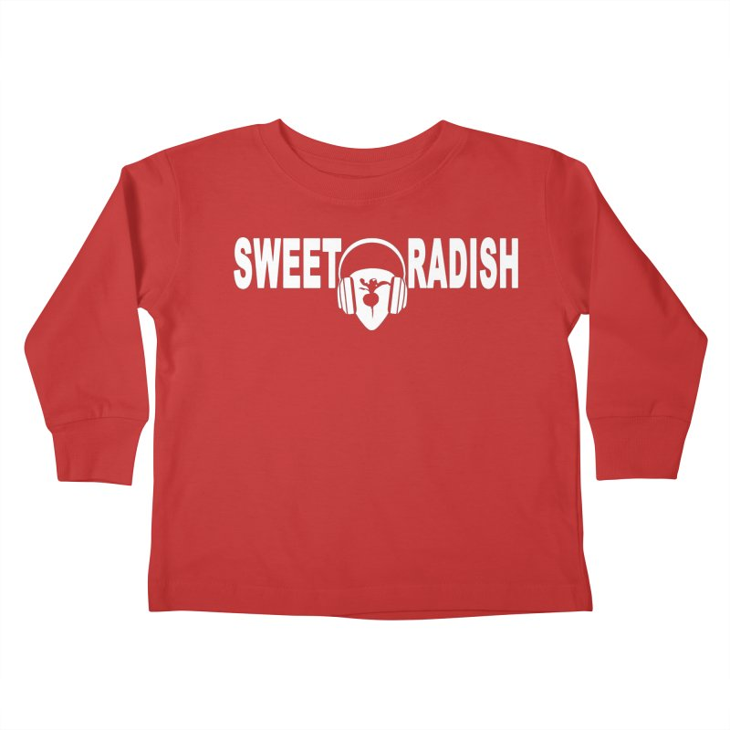 Sweet Radish Headphones Logo Kids Toddler Longsleeve T-Shirt by jackrabbithollow's Artist Shop