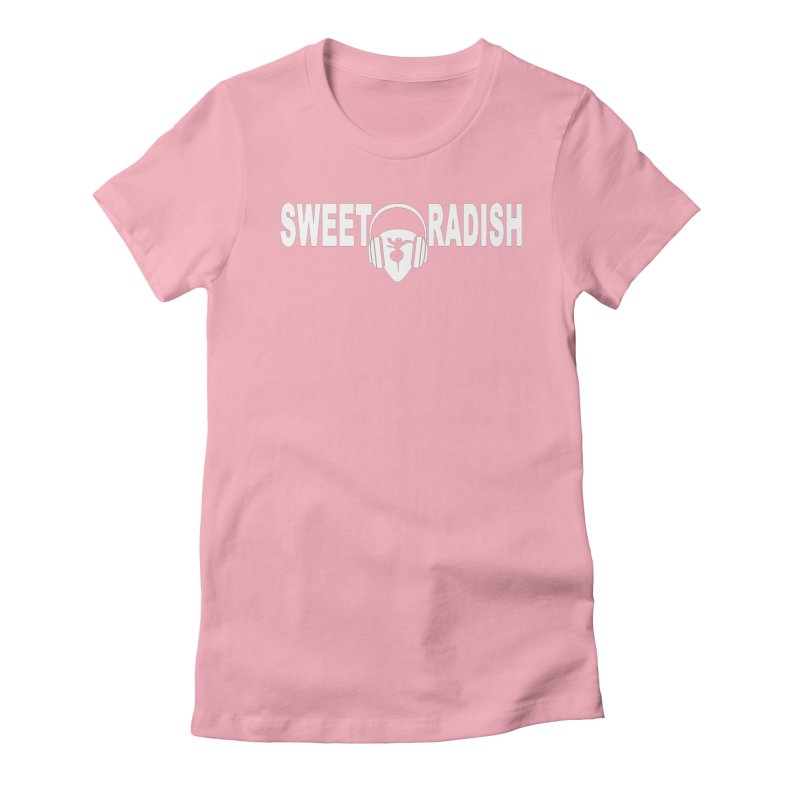 Sweet Radish Headphones Logo Women's Fitted T-Shirt by jackrabbithollow's Artist Shop