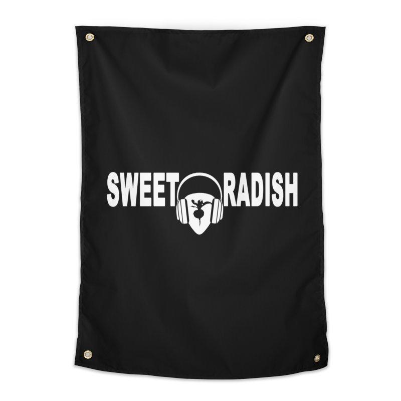 Sweet Radish Headphones Logo Home Tapestry by jackrabbithollow's Artist Shop