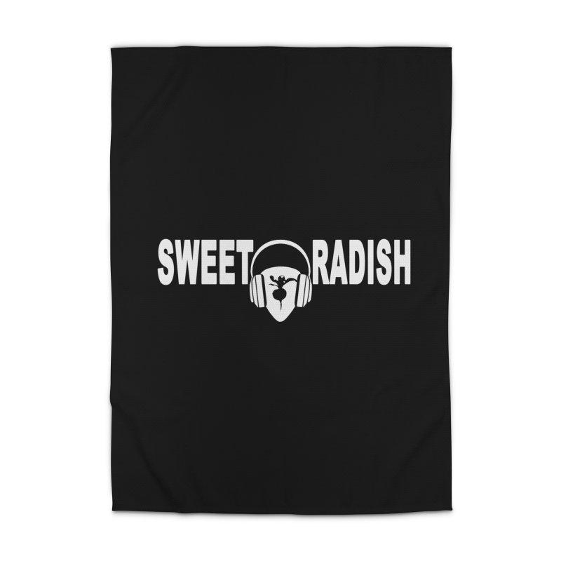Sweet Radish Headphones Logo Home Rug by jackrabbithollow's Artist Shop