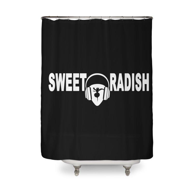 Sweet Radish Headphones Logo Home Shower Curtain by jackrabbithollow's Artist Shop